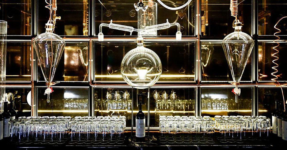 Science lab bar at The Diamond Horseshoe