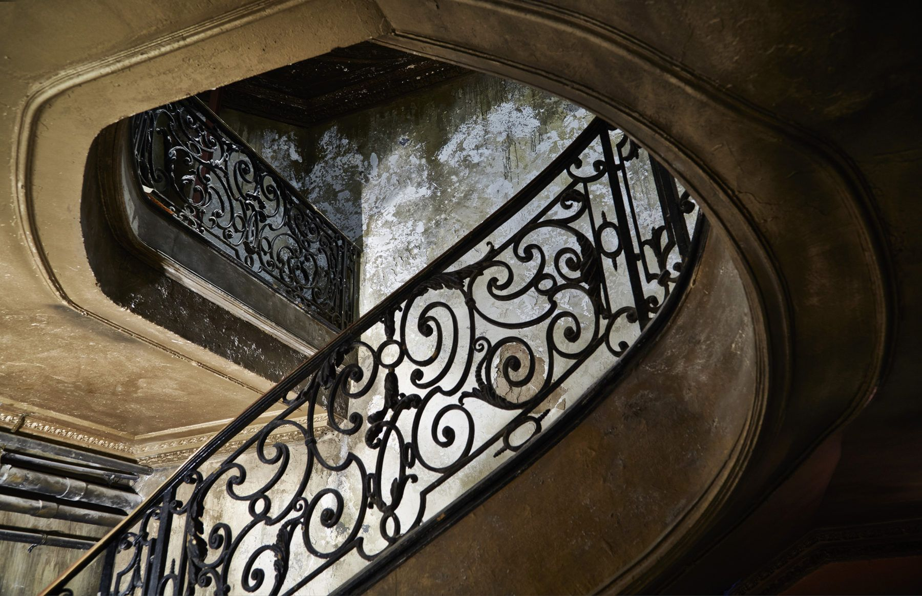 Historic Spiral Staircase at the Diamond Horseshoe