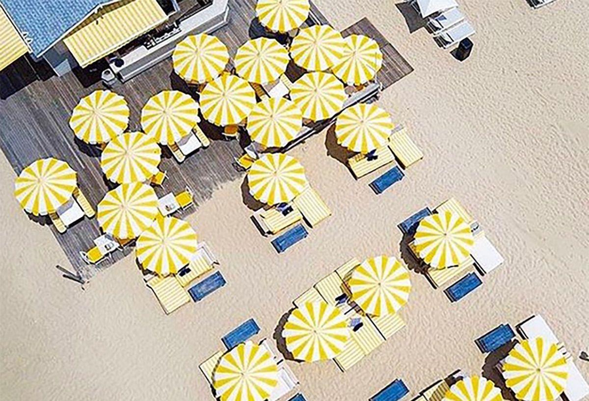 Yellow Umbrellas at The Beach Club