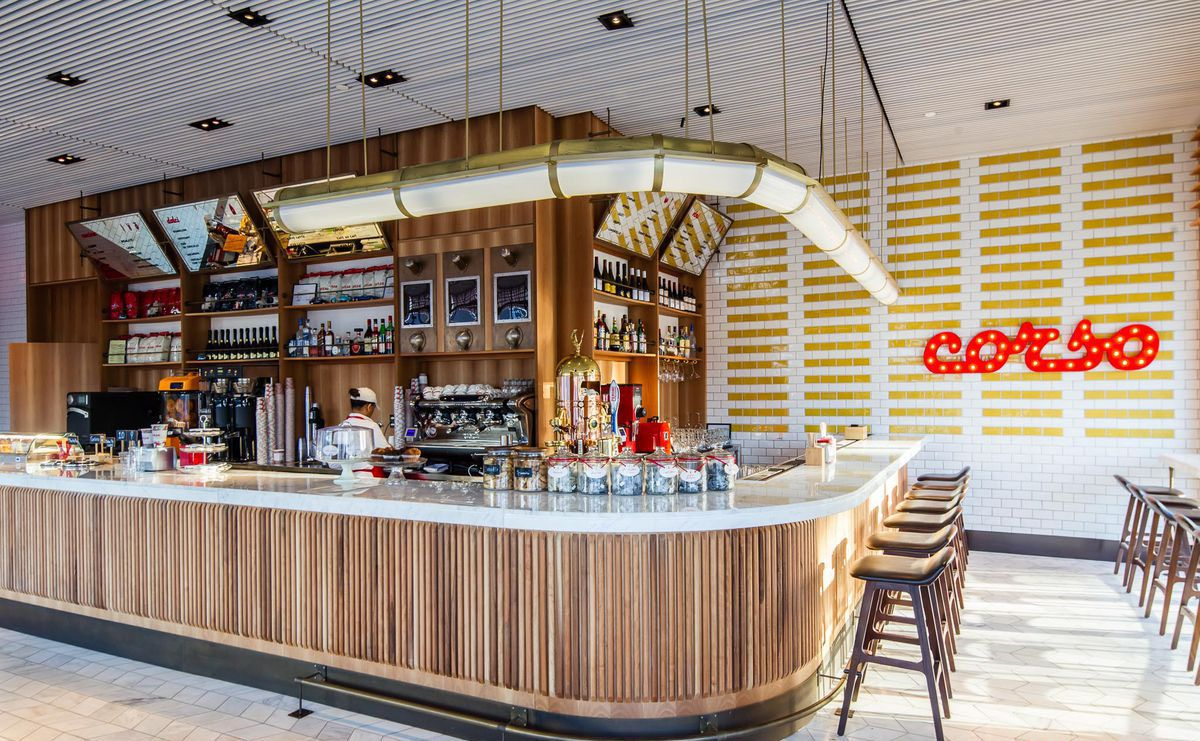 Corso Coffee interior coffee shop and barista