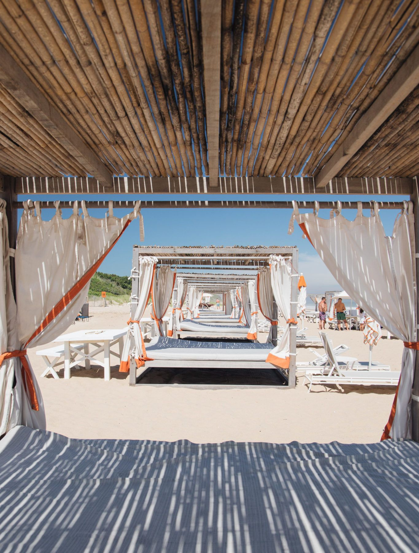 Daybeds on the beach