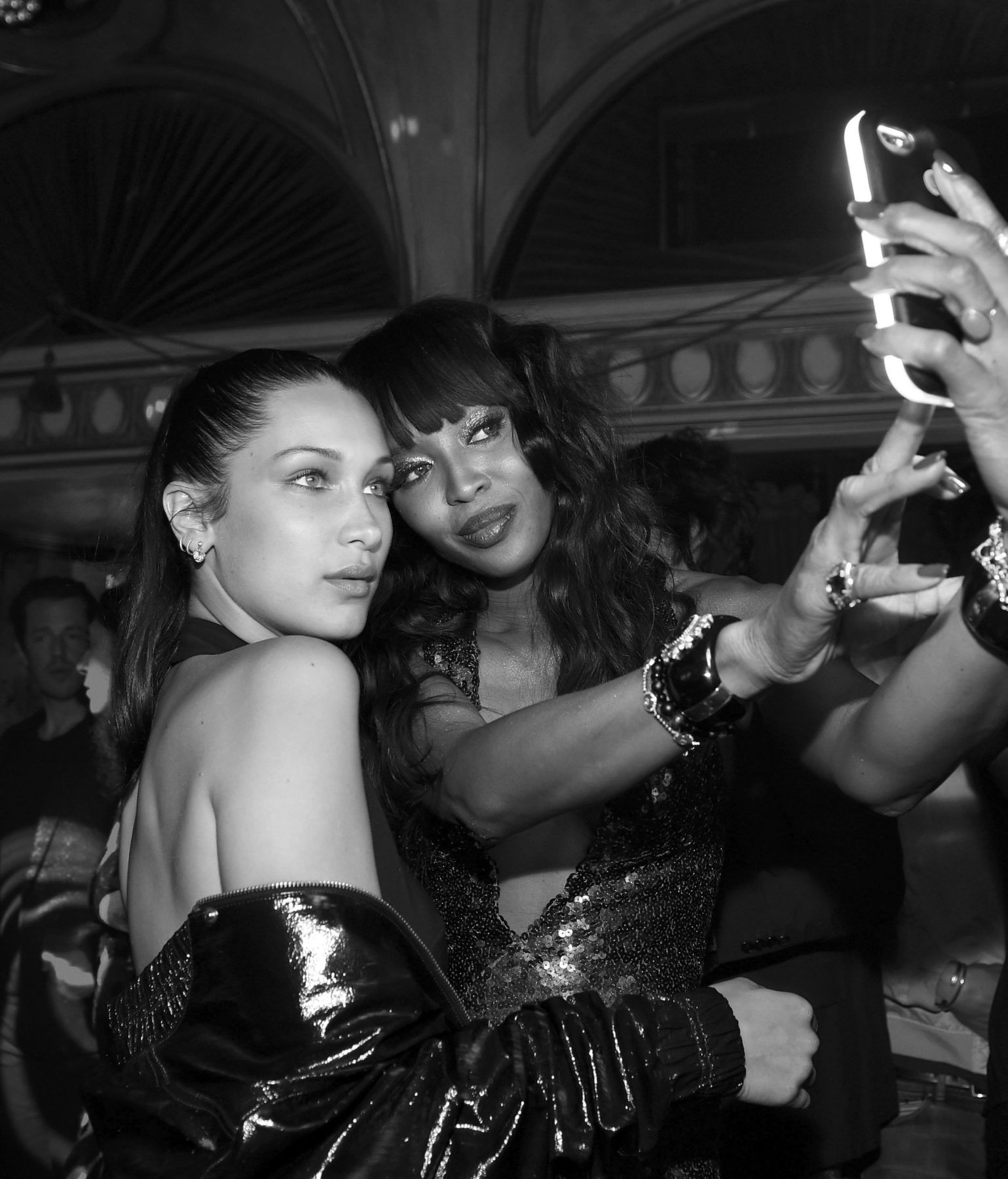 Gigi Hadid and Naomi Campbell