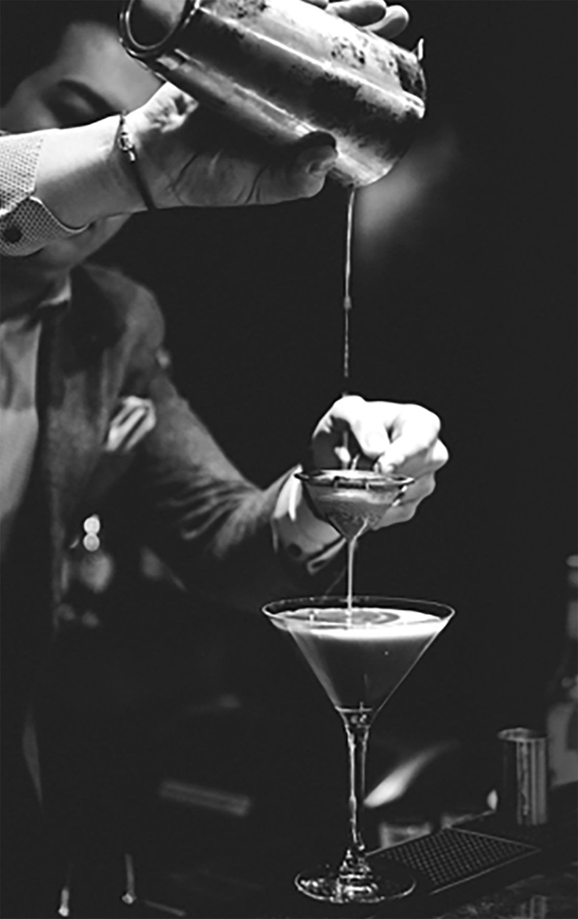 Man pouring cocktail